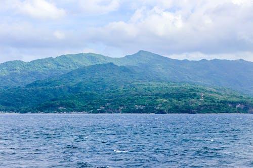 Free stock photo of blue sea, green mountains, mountain, ocean