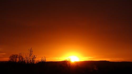 Ilmainen kuvapankkikuva tunnisteilla appelsiini, auringonlasku, Saksa