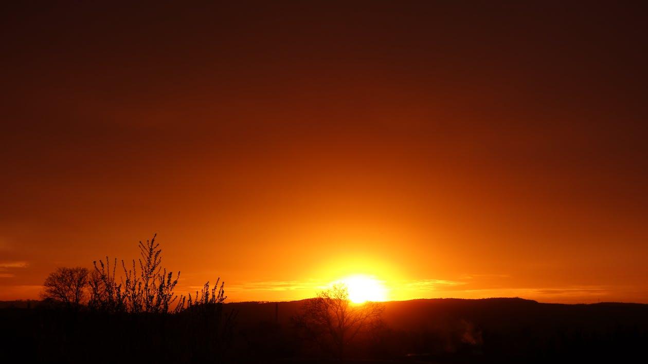 allemagne, coucher de soleil, coucher du soleil