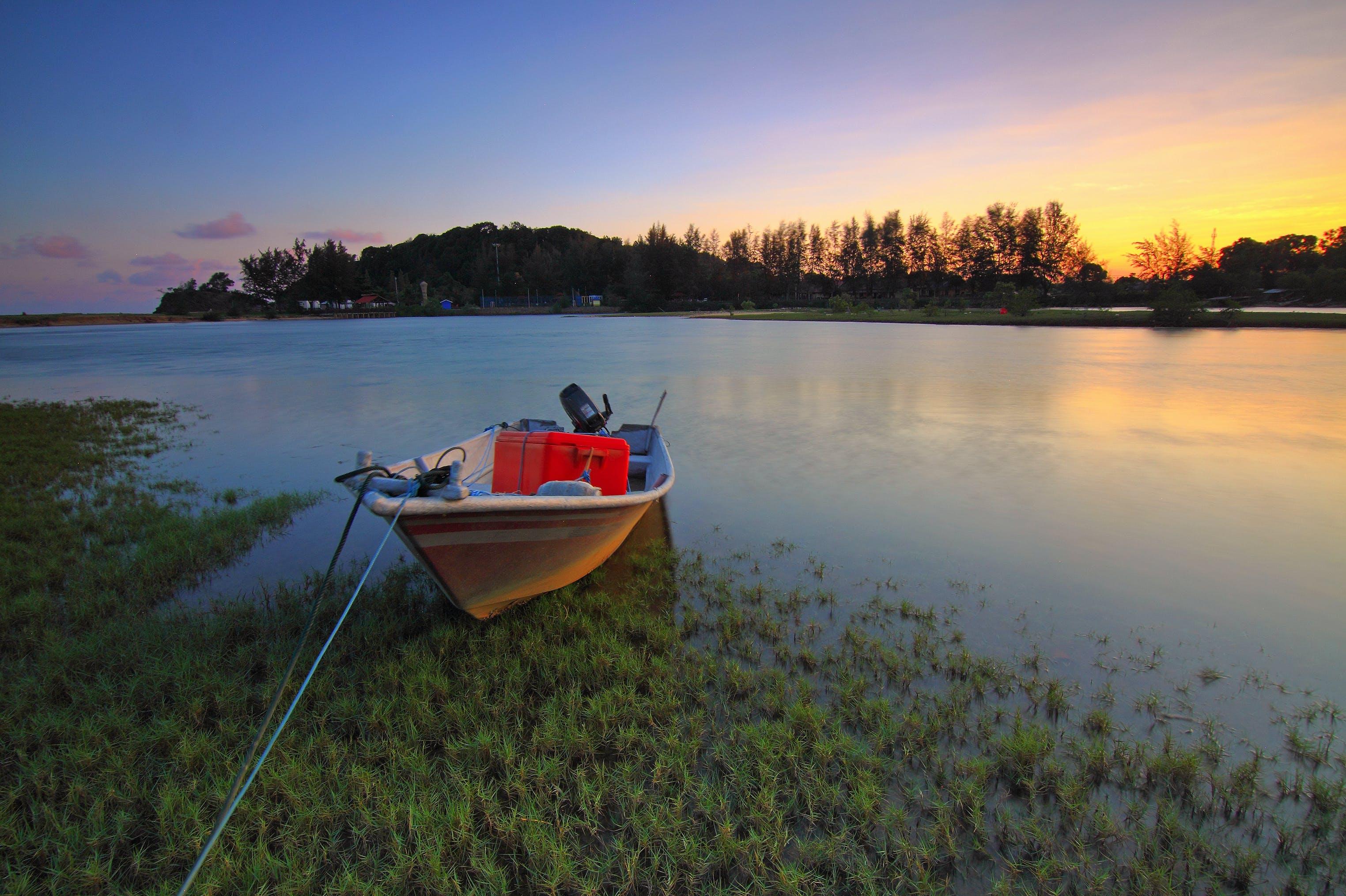 boat, calm waters, canoe