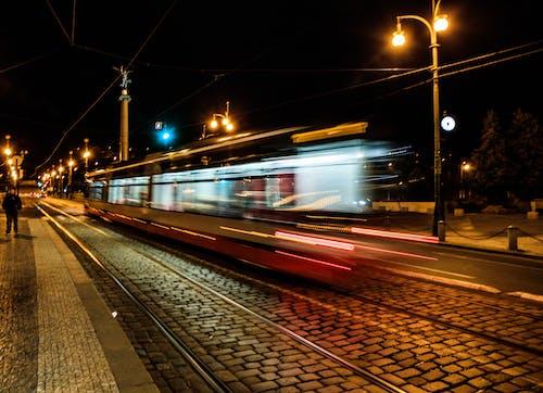 Free stock photo of movement, speed, tram