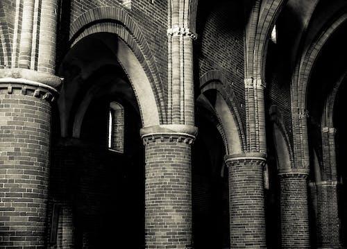 Free stock photo of abbey, column