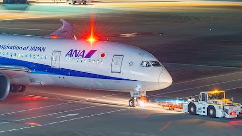 Fotos de stock gratuitas de ana, boeing 787, noche de aeropuerto