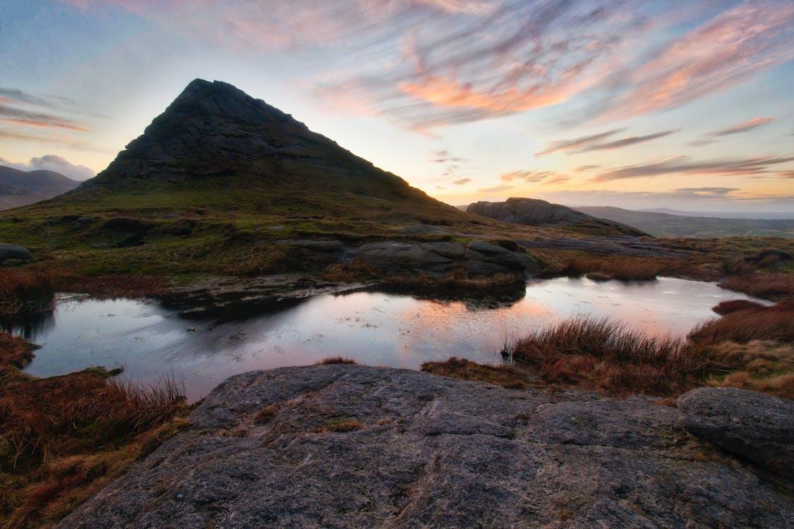 cock mountain, dusk, hen mountain