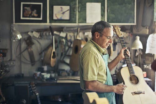 アコースティックギター, インドア, おとこ, ギターの無料の写真素材