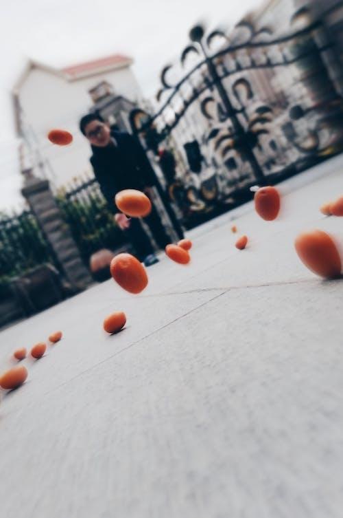 Foto profissional grátis de lançar, laranja
