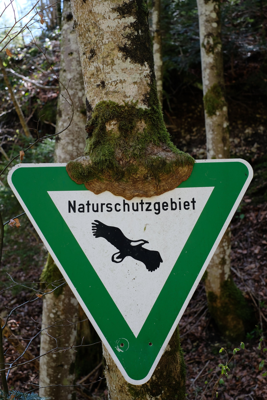 Green and White Naturschutzgebiet Sign