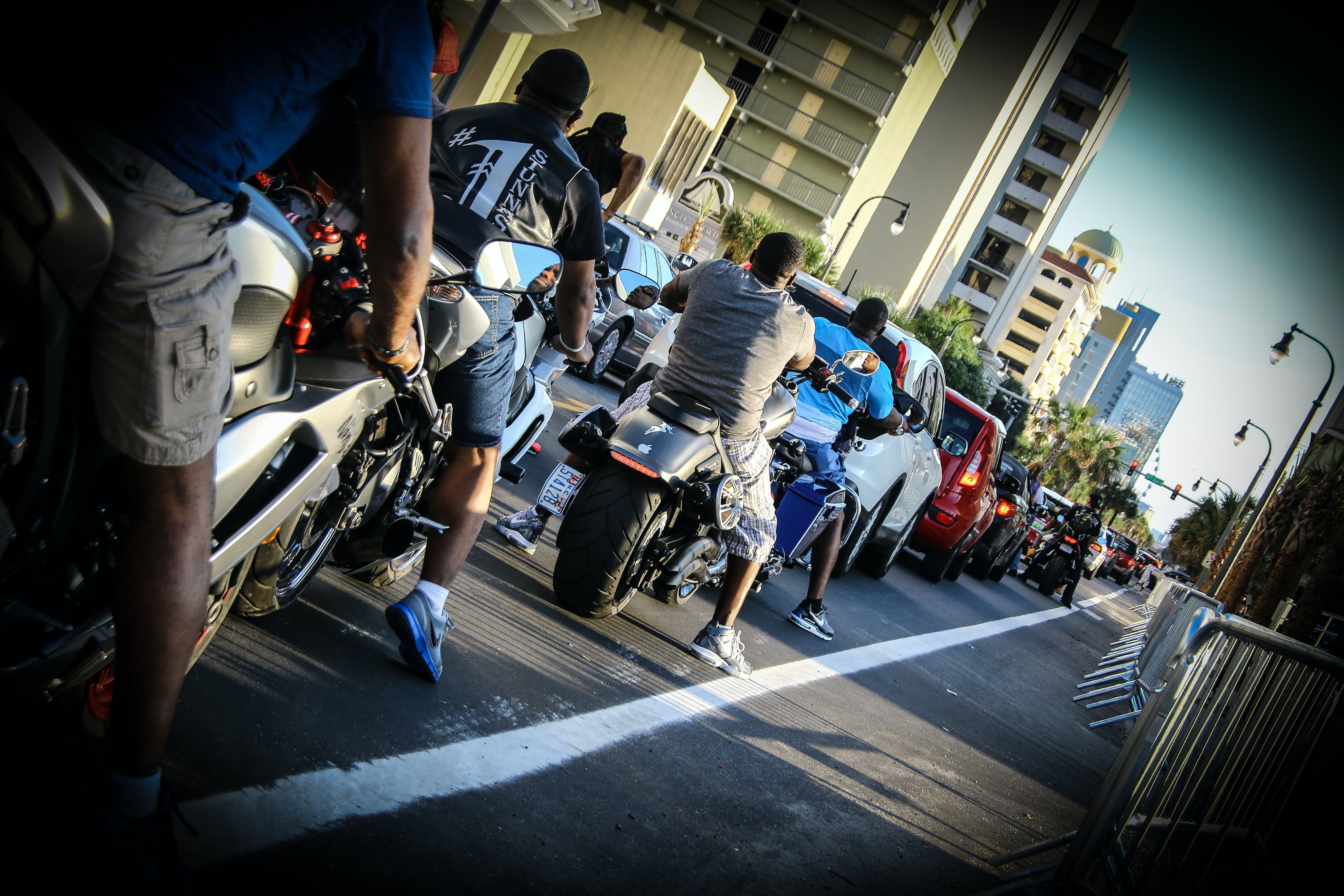 Free stock photo of bikers