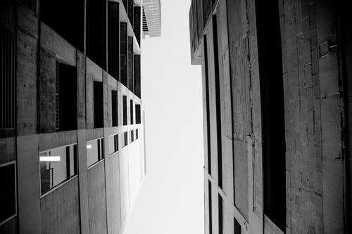 Free stock photo of building, cityscape, looking up