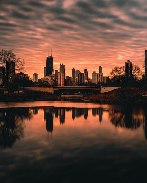 光, 光線, 反射, 城市 的 免費圖庫相片
