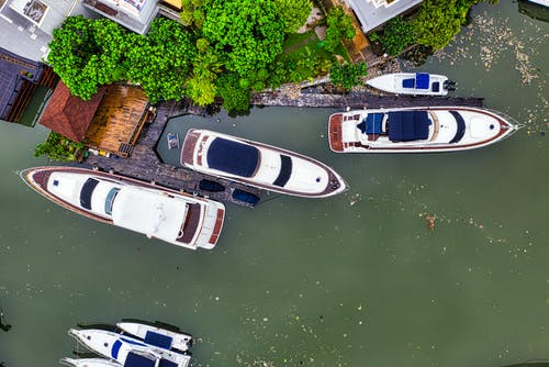 Top View Photo of Boats on Water