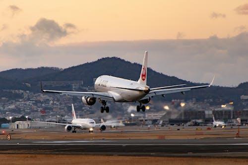 Free stock photo of air travel, airplane landing, airport