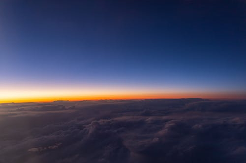 Free stock photo of above clouds, air travel, beautiful sky