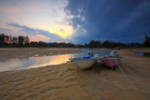 Free Stock Photo Of Sea Dawn Landscape Nature