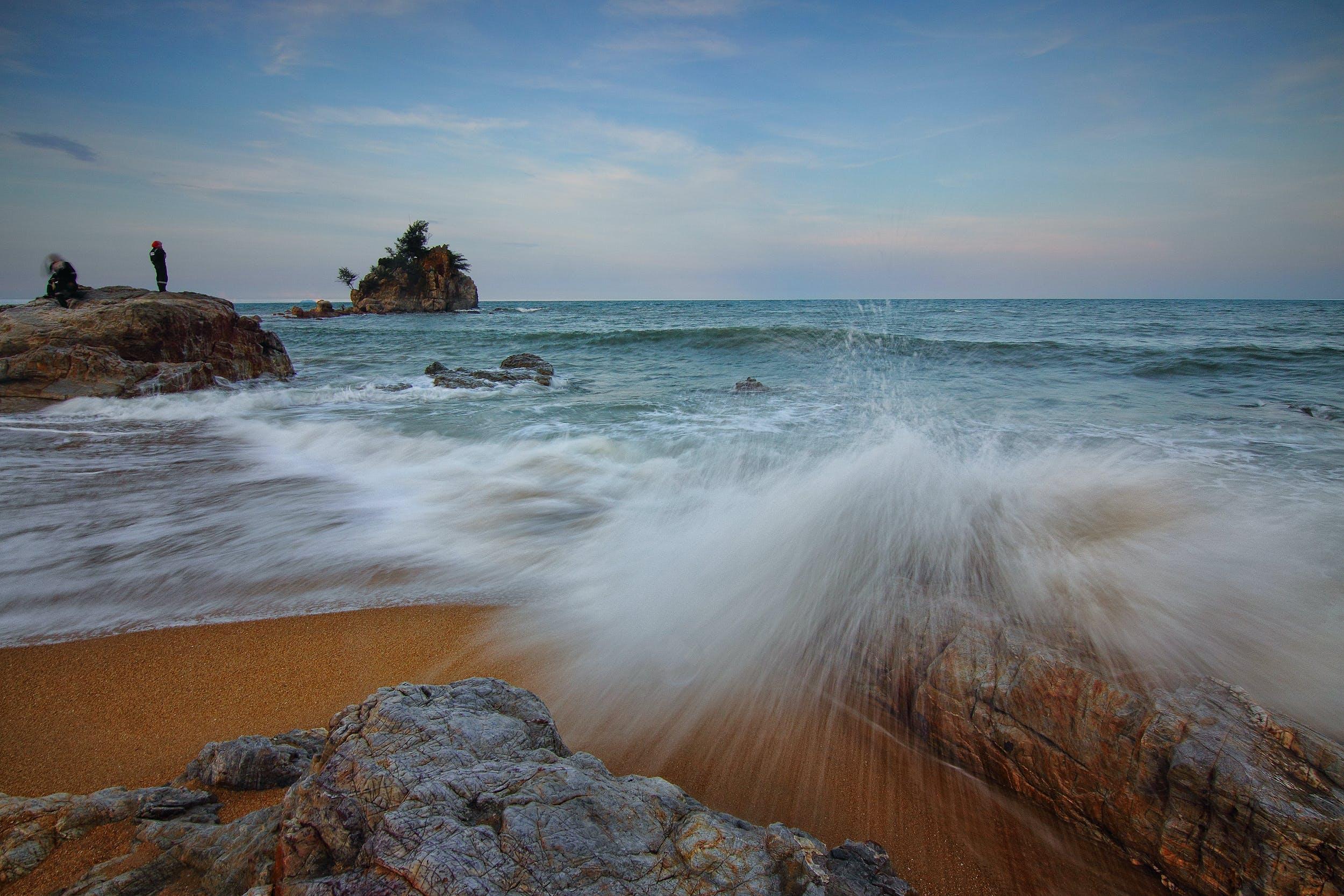 Ocean Waves Crushing on Shore