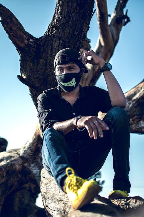 Free stock photo of black mask, black shirt, mask