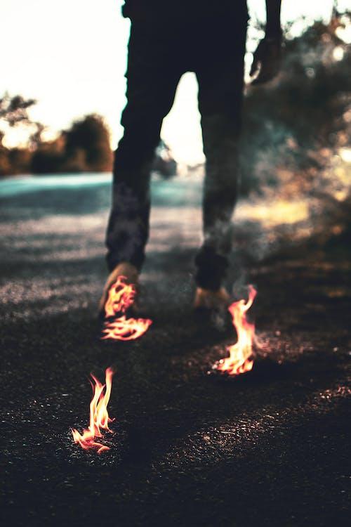Gratis lagerfoto af brænding, brand, brand gang, flamme