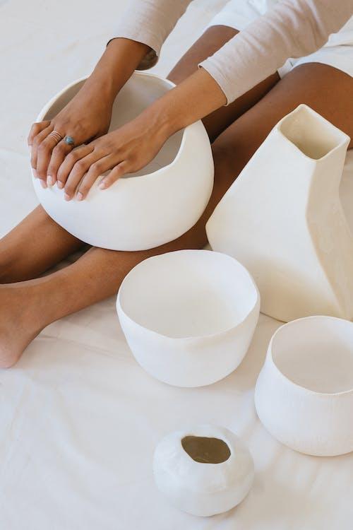 Ceramist With Handmade Pottery