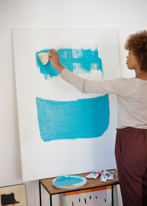 Photo of Woman Painting