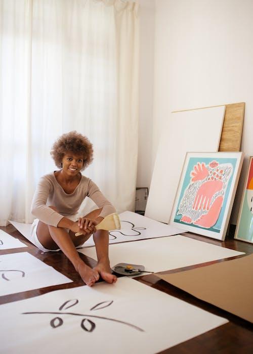 Darmowe zdjęcie z galerii z abstrakcyjny, afroamerykanin, afrykański, artysta