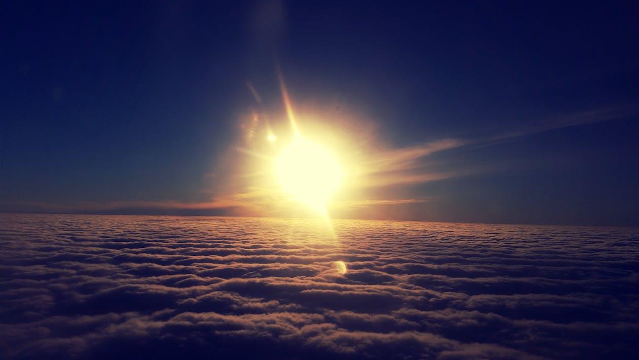 egitto, nuvole, sole