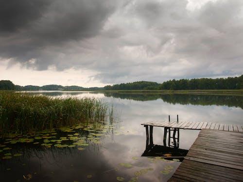 Free stock photo of clouds, lake