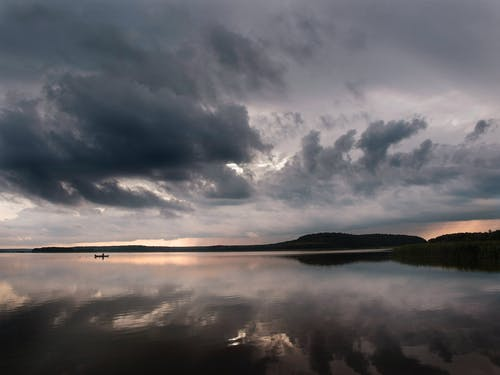 Photo of Lake Under Cloudy Sky