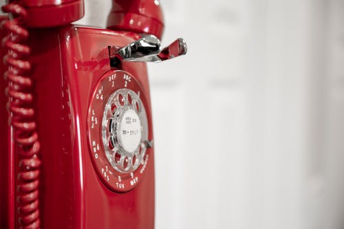 Free stock photo of model 554, old phone, red, red phone