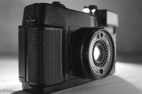 Free stock photo of black and white, black camera, cam