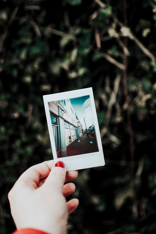 Person Holding Instant Photo