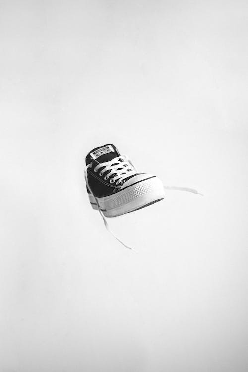 Black and White Adidas Low Top Sneakers