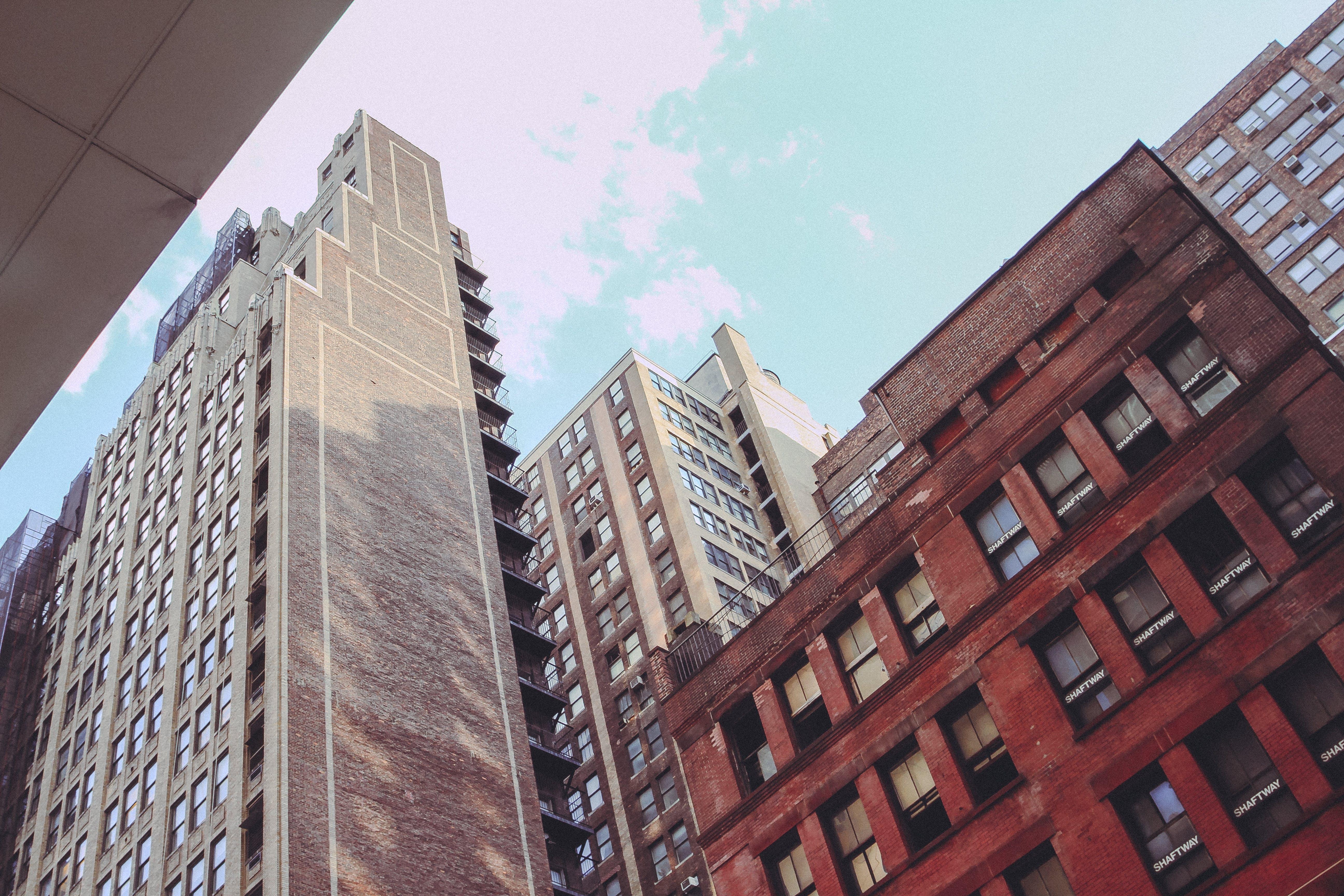 architektur, gebäude, manhattan