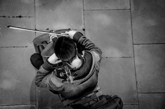 Free stock photo of man, street, playing, music