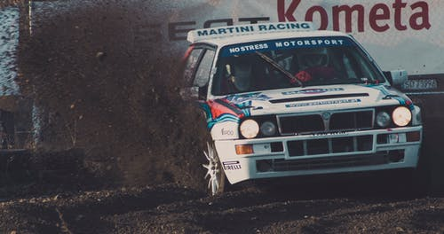 Free stock photo of action, dirt, gravel, lancia delta