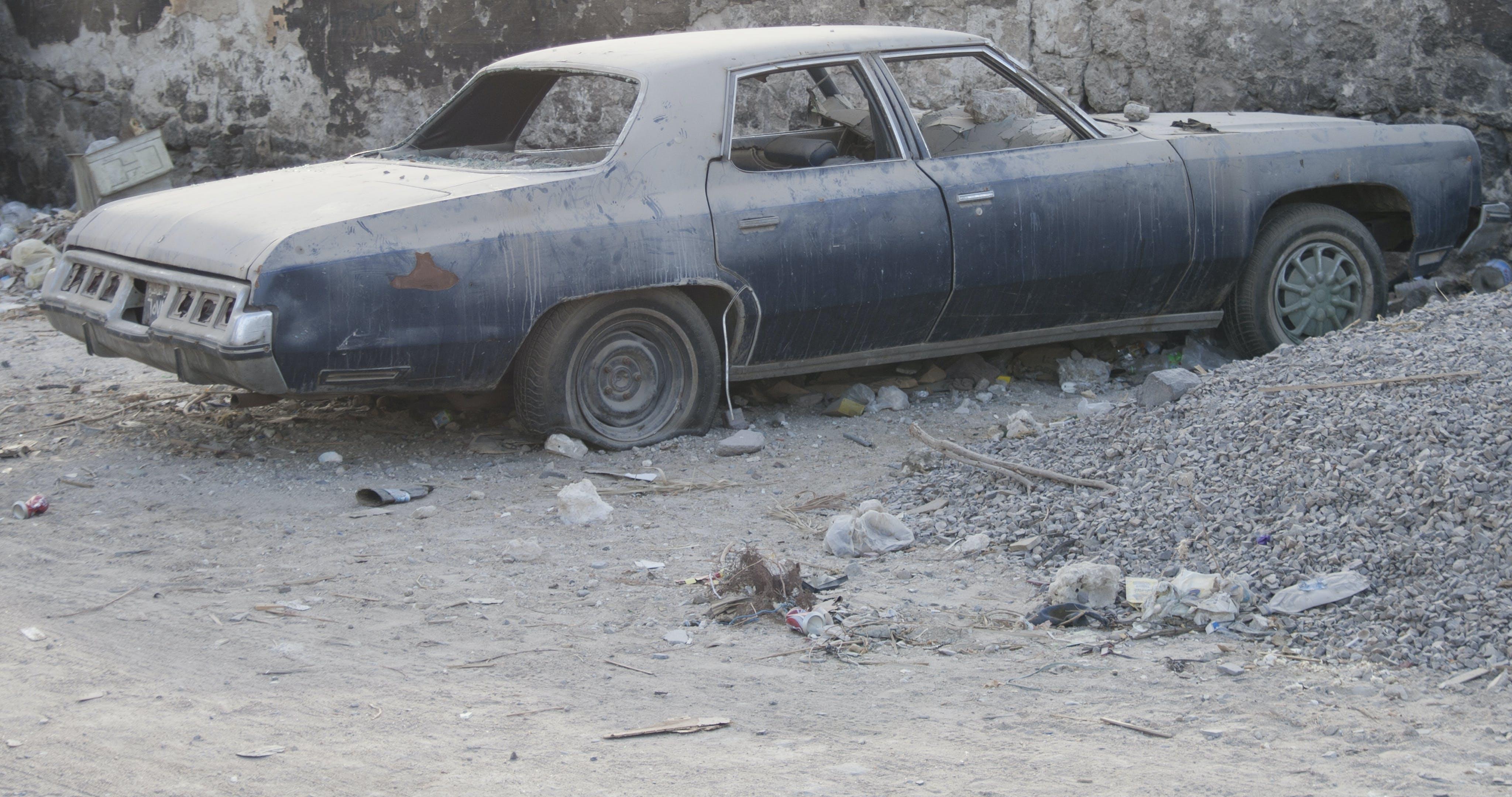 Free stock photo of city, dirt, vehicle, vintage car