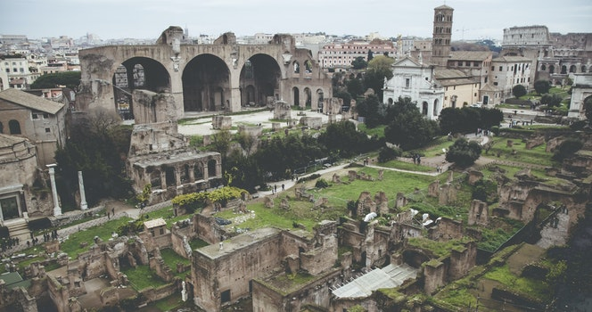 Free stock photo of city, ancient, monuments, forum romanum