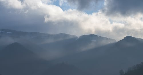 Free stock photo of fog, foggy, mountains, winter