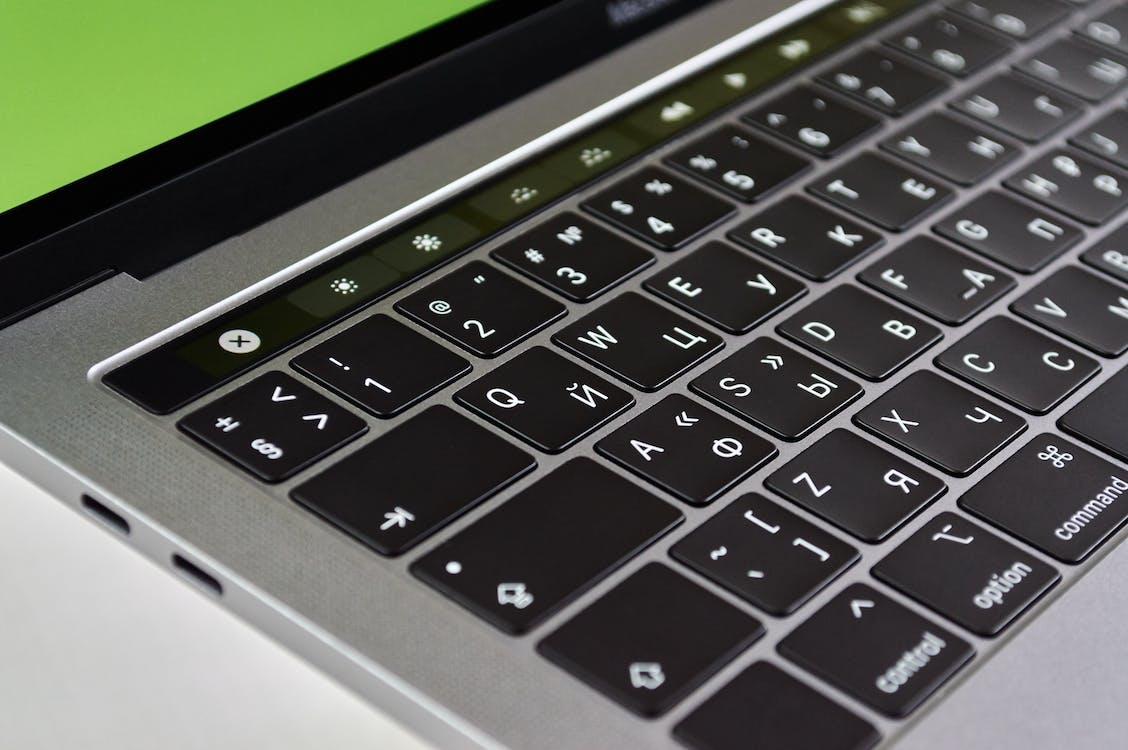 Nahaufnahmefoto Der Mac Book Tastatur