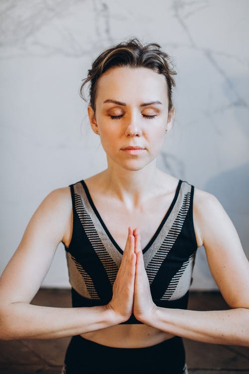 Brunette Woman Meditating