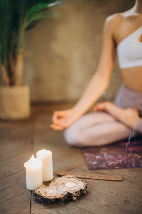 Candles and Incense for Meditation