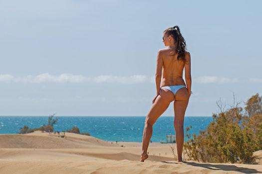 Free stock photo of beach, vacation, bikini, sand