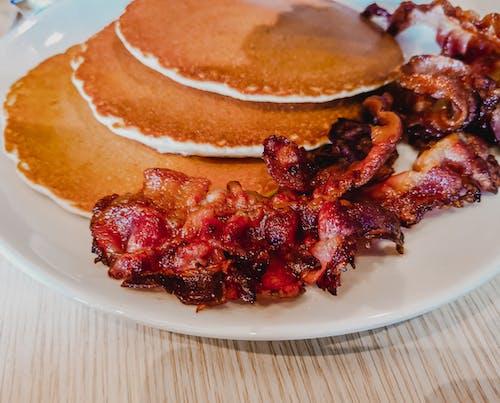Free stock photo of bacon, breakfast, food, pancakes