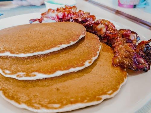 Free stock photo of bacon, food, pancakes