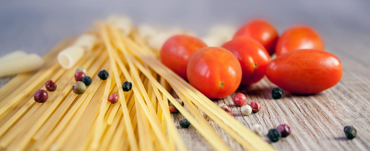 Yellow Pasta on Table