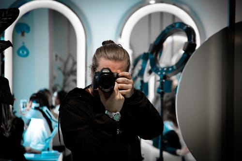 Free stock photo of mirror, photographer
