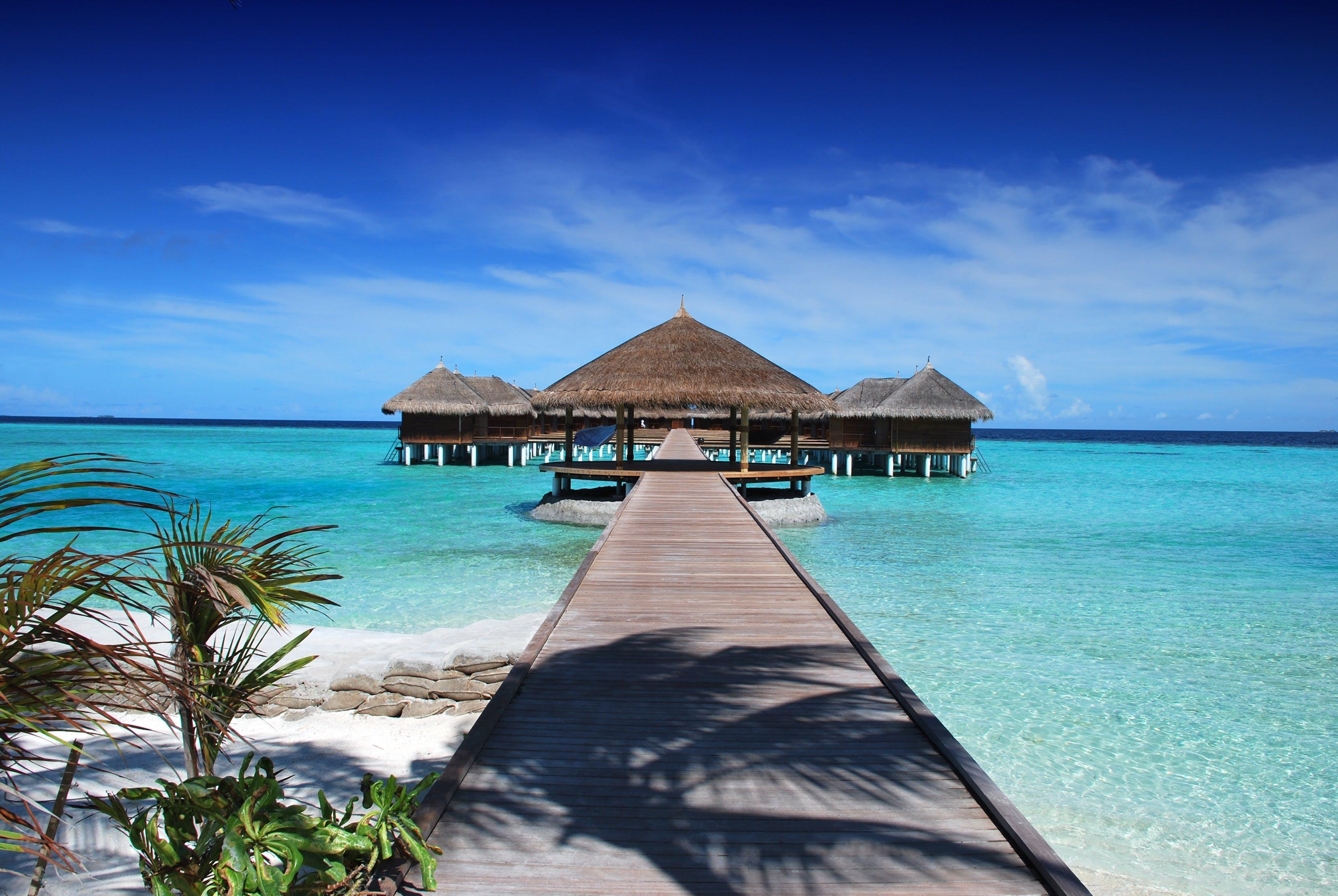 Kostenloses Stock Foto zu badeort, blau, draußen, ferien