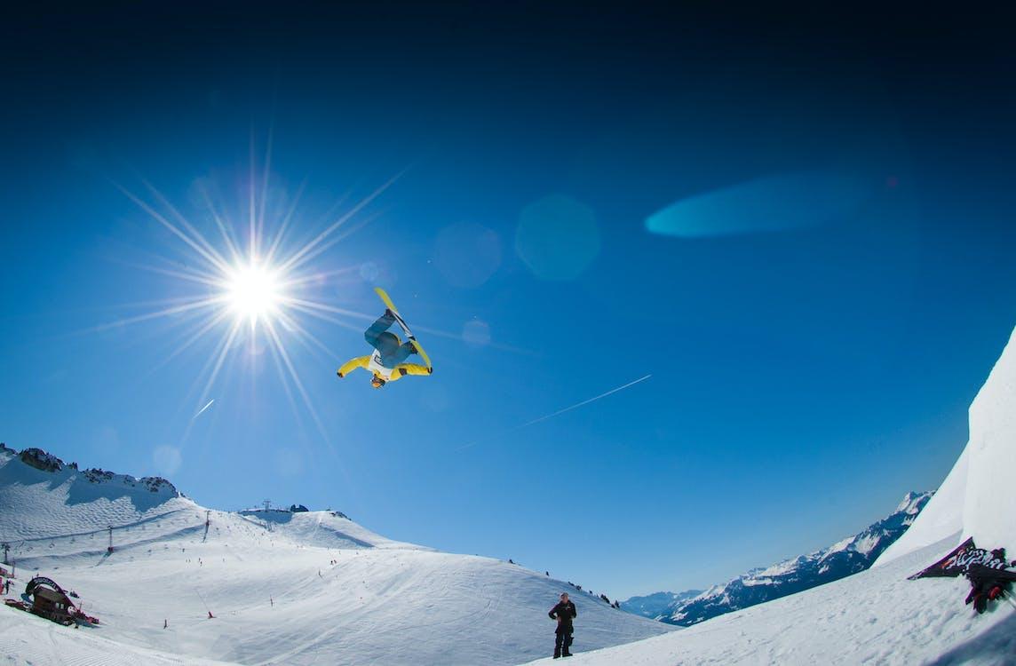Alpen, bergen, freestyle
