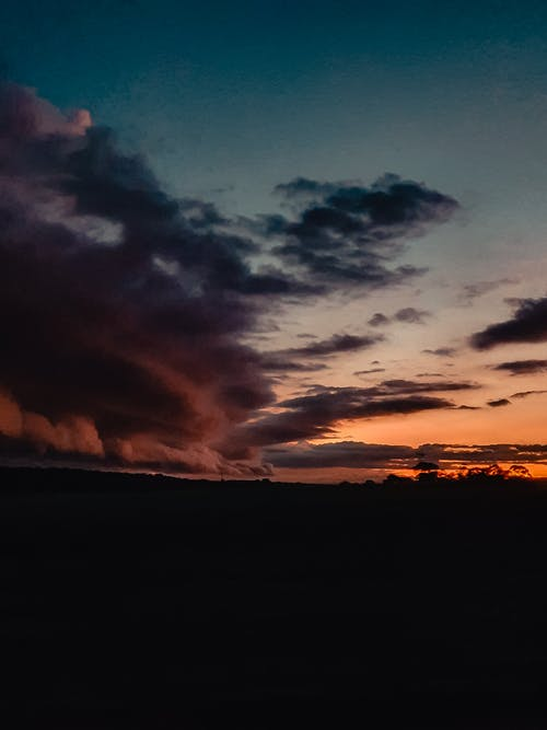 Free stock photo of clouds, storm, sunset