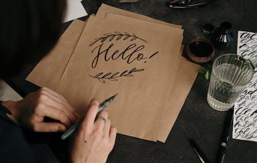 คลังภาพถ่ายฟรี ของ กระดาษ, การประดิษฐ์ตัวอักษร, การเขียน, ข้อความ