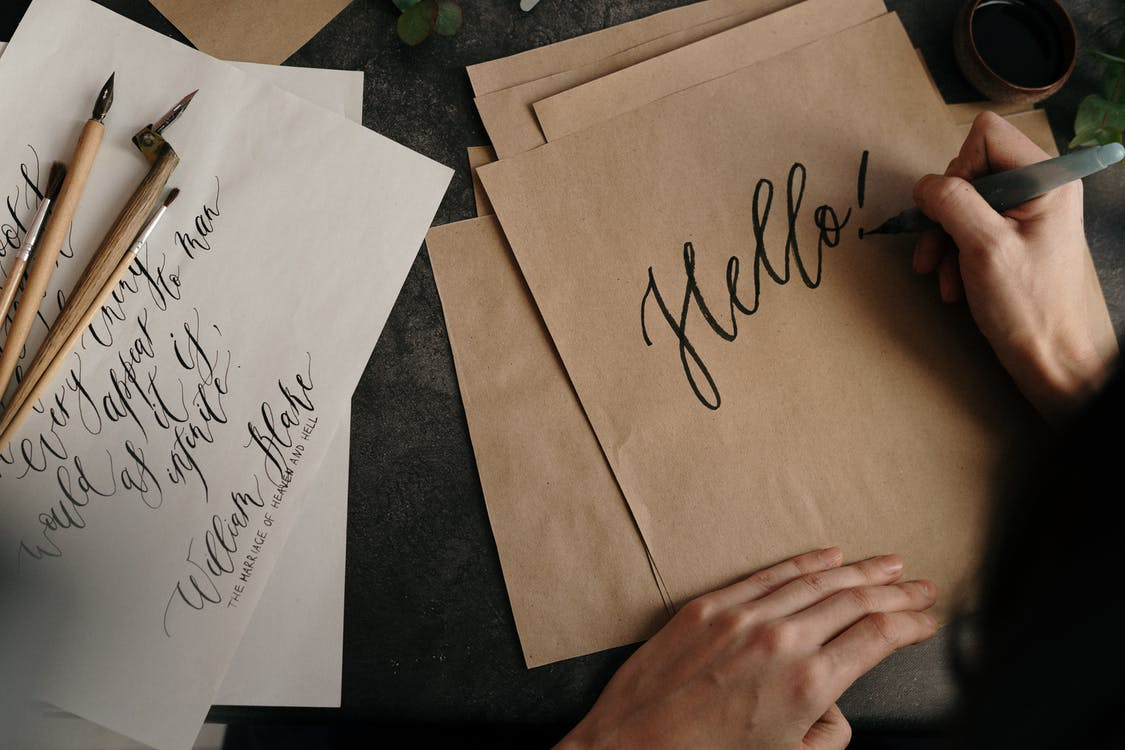 Brown Printer Paper With Black Text